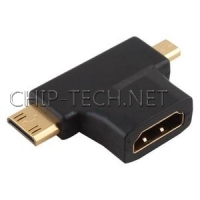 HDMI мама to Mini Micro HDMI папа адаптер